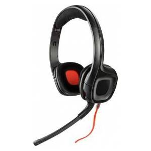 Plantronics GameCom 318, PC/Gaming, Binaural, Head-band, Black, Red, 3.5 mm (1/8´´), Wired