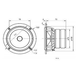 Visaton Titanium Speaker 10 cm (4´´) 8 Ohm