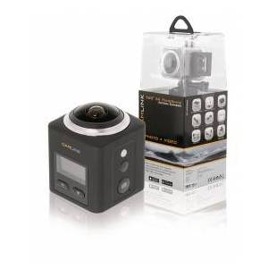 Camlink CL-AC360 360° 2k Action Camera, WIFI, Waterproof up to 30 m, mini HDMI, Built-in Microphone
