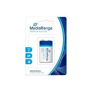 MediaRange Premium Alkaline batteries, 9V, 6LR61, E Block, MN1604, 9 V, 1 piece