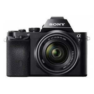 "Sony alpha 7 - Digital Camera - 24,3 MP CMOS 28 mm-70 mm - Display: 7,6 cm/3"" TFT - Black"