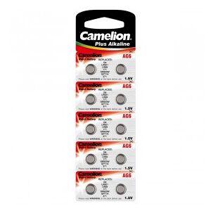 Camelion Alkaline Button Cells, AG6 / G6 / LR921 / LR69 / 171 / SR920W / GP71A / 371, 1.5V - 10 pieces