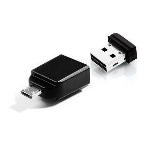 Verbatim Nano USB Stick, USB 2.0, Including micro USB adapter, 16 GB, Black