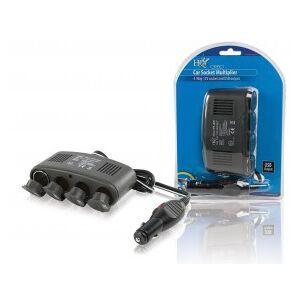 HQ 4-way car socket splitter 12 V + USB