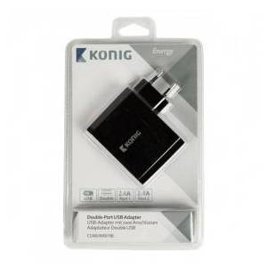 König Universal double-port USB adapter 2.4 A and 2.4 A