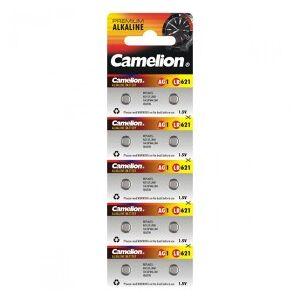 Camelion Alkaline Button Cells, AG1 / G1 / LR621 / LR60 / 164 / SR621W / GP64A / 364, 1.5V - 10 pieces