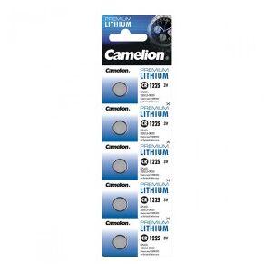 Camelion Lithium Button Cell, CR1225 / DL1225 / 5020LC / E-CR1225, 3V - 5 pieces