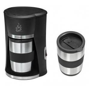 Bomann KA 180 CB Drip coffee maker 0.3L Black,Stainless steel