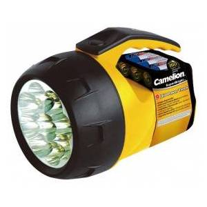 Camelion Superbright Handlamp, 9 extra bright white LEDs, 4 x AA batteries included, yellow