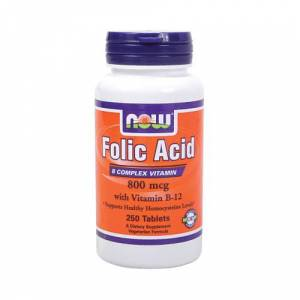 Now  Folic Acid with Vitamin B-12 - 800 mcg 250 tabs