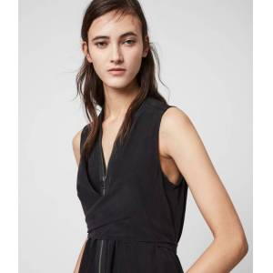 AllSaints Jayda Silk Dress  S