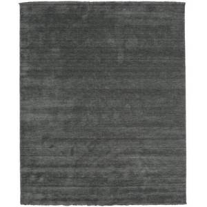 RugVista Handloom fringes - Dark Grey  rug 8′2″x9′10″ (250x300 cm) Modern Carpet
