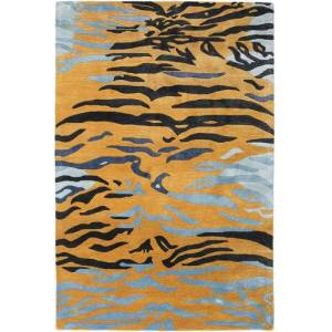 RugVista Love Tiger - Orange / Grey  rug 8′2″x11′6″ (250x350 cm) Modern Carpet