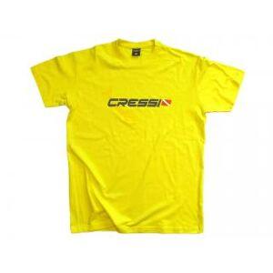 Cressi T-SHIRT CRESSI TEAM Size S-Man Yellow