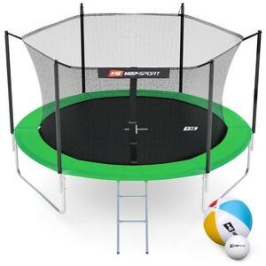 Hop-Sport Trampolína  10ft (305cm) zelená s vnitřní ochrannou sítí - 3 podpůrné tyče
