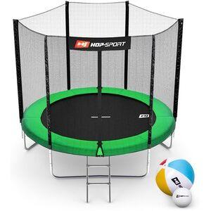 Hop-Sport Trampolína  8ft (244cm) zelená s vnější ochrannou sítí