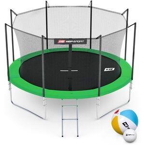 Hop-Sport Trampolína  10ft (305cm) zelená s vnitřní ochrannou sítí - 4 podpůrné tyče