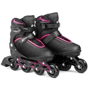 Hop-Sport Kolečkové brusle  3 v 1 HS-903 Motion L Černo - růžové