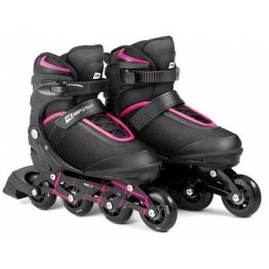 Hop-Sport Kolečkové brusle  3 v 1 HS-903 Motion M Černo - růžové