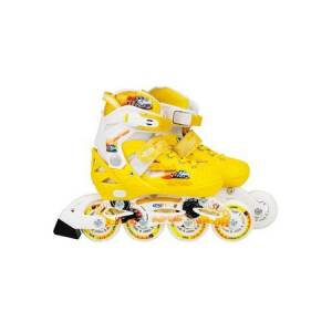 Flimboo Kolečkové brusle pro děti žluté YX-0151-15