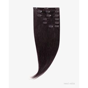 Clip In Vlasy 40 cm 75g 2 tmavě hnědá 7 pásů 15 sponek