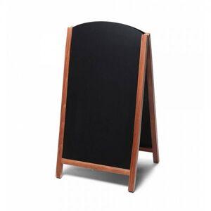 Jansen Display Dřevěné áčko s vysouvací tabulí 68x120, světle hnědá ZPCHBFSLB68x120 světle hnědá