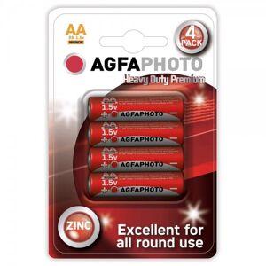 Solight Zinková baterie AgfaPhoto R06/AA, 1,5 V, blistr 4 ks