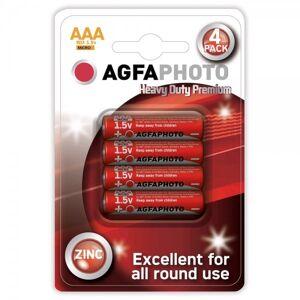 Solight Zinková baterie AgfaPhoto R03/AAA, 1,5 V, blistr 4 ks