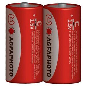 Solight Zinková baterie AgfaPhoto R14/C, 1,5 V, 2 ks