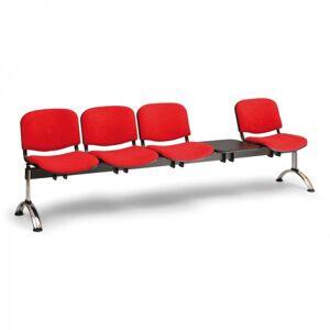 Kovo Praktik Rauman čalouněné lavice Viva, 4-sedák + stolek oranžová