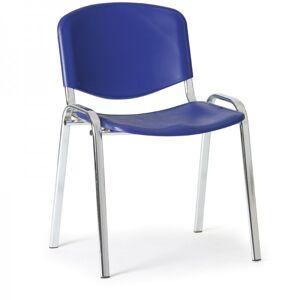Kovo Praktik Plastová židle ISO - chromované nohy modrá