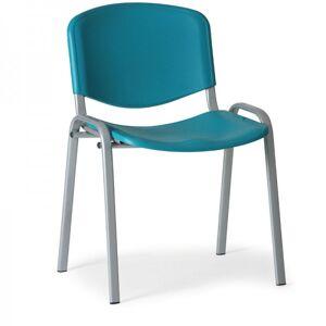 Kovo Praktik Plastová židle ISO - šedá konstrukce zelená
