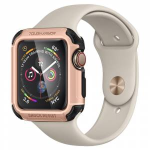 Spigen Pouzdro / kryt pro Apple Watch 44mm - Spigen, Tough Armor RoseGold