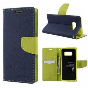 Mercury Pouzdro / kryt pro Samsung Galaxy S8 PLUS - Mercury, Fancy Diary Navy/Lime