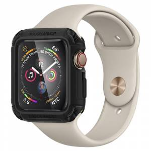 Spigen Pouzdro / kryt pro Apple Watch 44mm - Spigen, Tough Armor Black