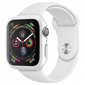 Spigen Pouzdro / kryt pro Apple Watch 44mm - Spigen, Thin Fit White
