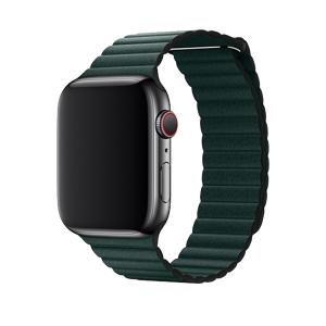 Devia Řemínek pro Apple Watch 38mm / 40mm - Devia, LeatherLoop Forest Green