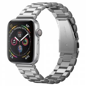 Spigen Kovový řemínek pro Apple Watch 42mm / 44mm - Spigen, Modern Fit Silver