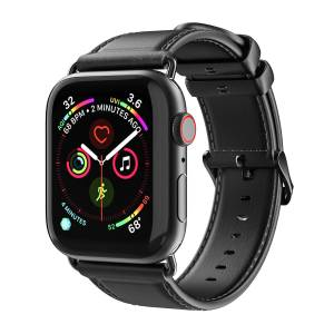 DUXDUCIS Kožený pásek / řemínek pro Apple Watch 42mm / 44mm - DuxDucis, Business Black