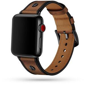 TECH-PROTECT Kožený pásek / řemínek pro Apple Watch 42mm / 44mm - Tech-Protect, Screwband Brown