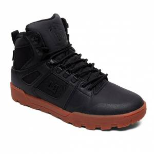 DC Zimní boty DC Pure High-Top WR black/gum men black/gum UK 10 (EUR 44,5)