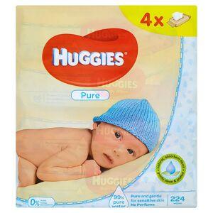 Huggies Pure dětské ubrousky Quatro 4 x 56 ks