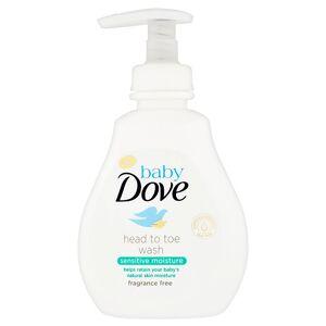 Dove Baby Dove Sensitive Moisture mycí gel na celé tělo i vlásky 200 ml