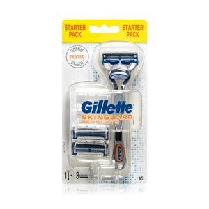 Gillette Holicí strojek pro citlivou pleť Skinguard Sensitive + náhradní hlavice 3 ks