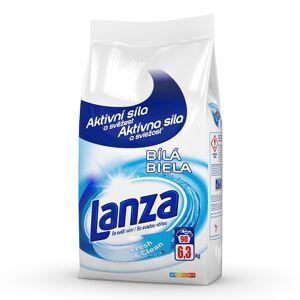 Lanza Fresh & Clean Bílá prací prášek na bílé prádlo, 90 praní  6,3 kg
