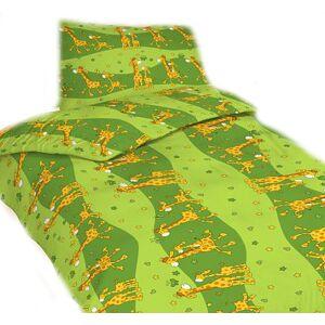 Dadka Povlečení krep Žirafa zelená   dle fotky   Povlečení krep Žirafa zelená 140x200, 70x90 cm