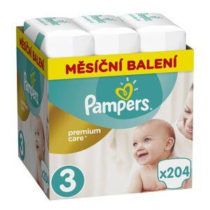 Pampers Premium Care vel. Midi 5-9 kg dětské pleny Monthly Box 204 ks
