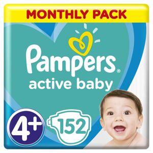 Pampers Active Baby 4+ Maxi+ dětské pleny Monthly Box 152 ks