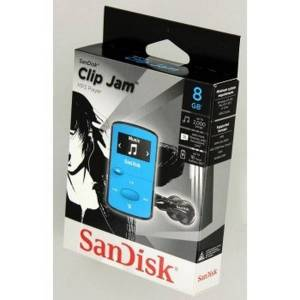 Sandisk mp3 sansa clip jam 8 gb jasně modrý