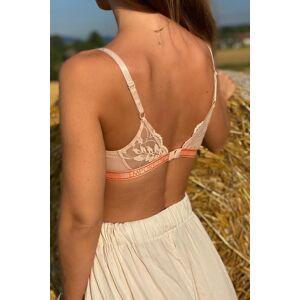 Emporio Armani Underwear Emporio Armani Sporty Lace lehce vyztužená podprsenka  - meruňková Velikost: XL